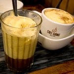 iced and hot egg coffee
