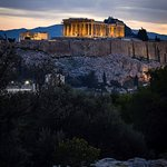 Not a bad view of the Acropolis and the Athens cityscape if you hike up before sunrise!