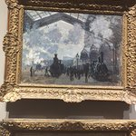 Claud Monet. The main rail station in Paris which is now The Musse Dorsey art gallery.