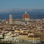 Florence Cathedral, formally the Cattedrale di Santa Maria del Fiore, as seen from Piazzale Mich