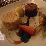 Pumpkin & Chocolate Mousse, Sorbet, Pumpkin Panna Cotta