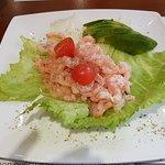 My starter. Very generous portion of prawns.