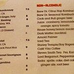 Wine and Non-Alcohol Menu