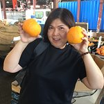 Mandarin Oranges almost the size of my face.....