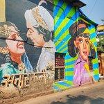 Mumbai, Indian Bollywood street art.