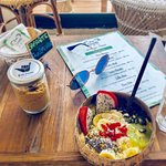 beachcoconuts.kohphangan ⭐️Every morning you can try our Pura Vida #smoothiebowl with Spirulina . ⭐️Is the best way to start the day fulled energy . ⭐️Pic by @technodeedee In #beachcoconutsbowls .