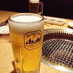 まずは生ビール♪