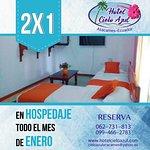 Aprovecha esta super promoción 2x1 en ENERO en Hotel Cielo Azul Atacames #Descuento #Atacames Esmeraldas Atacames Esmeralda Ecuador