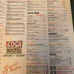 Foto de Cosa Nostra Trattoria Pizzeria