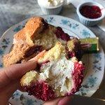 Raspberry scone was good