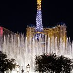 View for the Bellagio side of the fountain.