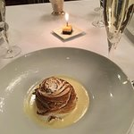 Baked Alaska....with champagne and a birthday treat!