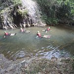 """floating can be easy but you must to know some basic techniques for nature water sliding that leaning back and relaxing ur boday like """"noodle"""" to prevent injury during #canyoning"""