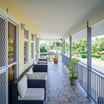 Balcony for the two Superior Rooms facing to the Apia Park Stadium!