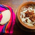 Choriqueso con home-made tortillas