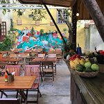 tiki bar and seating