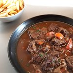 The real flemish stew with Belgian frites