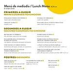 Menú de mediodía