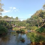 Suspension Bridge where you can walk around. Nice for taking photo to the creek.