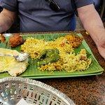 Palak Paneer, Tandoori Chicken, Nan with cheese, Bamati rice