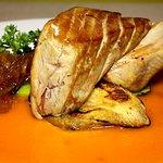 Atún rojo con cebolla caramelizada