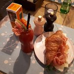 Bloody Mary and Parmesan, Parma ham croissant