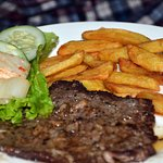 Steak with French fries -
