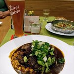 Lamb Stew and beer