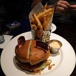 The local specialty burger, big enough for two! Especially if you add the apple cobbler!
