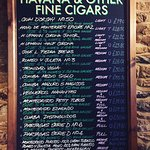 Our Cigar Menu served during opening times.