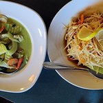 Green Curry and Papaya salad