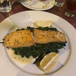Excellent salmon with spinach