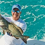 Catching grouper in the crystal clear water off Key West.