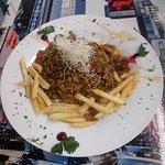 Un súper arroz oriental en salsa de lulo, menú del día..... ¡Delicioso!