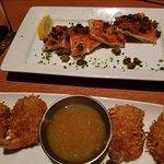 smoked salmon and coconut shrimp
