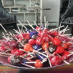 Complimentary tootsie pops await you in our 24/7/365 lobby.  Kids (and big kids) love them!