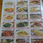 Menu of Pho Tung Ga restaurant