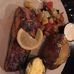 Salmon Entree - The mixed vegetables appeared pretty basic but were flavorful. The salmon was se