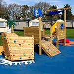 Outdoor play area outside the Quarterdeck Restaurant
