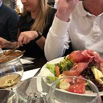 mega salade! jambon cru et roquefort...