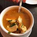 Murg Shorba - a spicy Indian chicken soup. This is not a heavy soup to enjoy but the chicken makes it hearty!