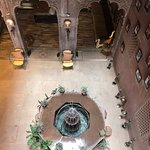View looking down on the lobby.