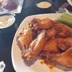 Winging it with those delicious dressings.