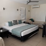 Ocean view bure set up for 2 adults and 2 children