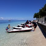 The line up of the 4 new jet skis