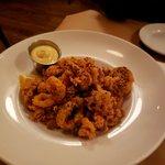 huge serving of calamari