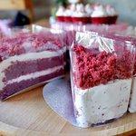 Reavelvet cheese cake and Redvelvet cup cake