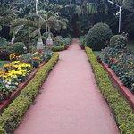 The beautiful garden around the museum