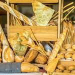 Freshly baked bread selection