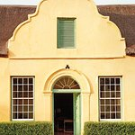 Entrance to the 1854 Cape Dutch heritage house. Its the oldest inhabited house in Montagu.